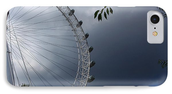 London Eye Clouds IPhone Case by Nicky Jameson