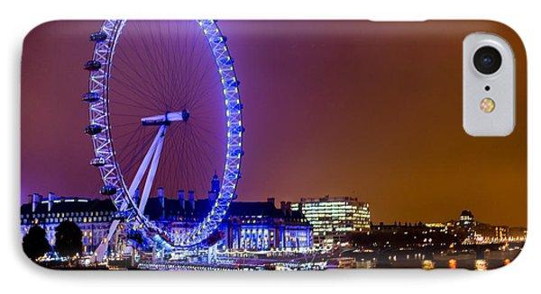 IPhone Case featuring the photograph London Eye Night Glow by Matt Malloy