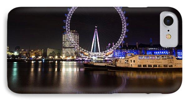 IPhone Case featuring the photograph London Eye Night by Matt Malloy