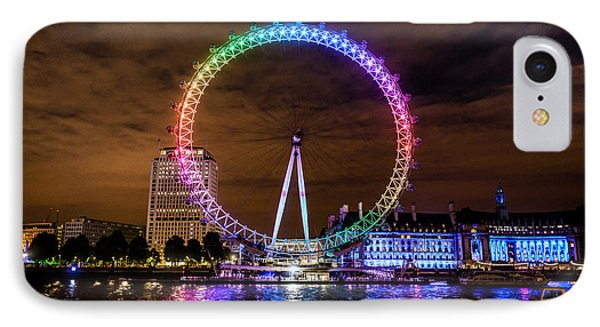 London Eye Pride IPhone Case by Matt Malloy