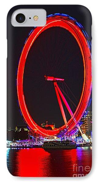 London Eye iPhone 7 Case - London Eye Red by Jasna Buncic