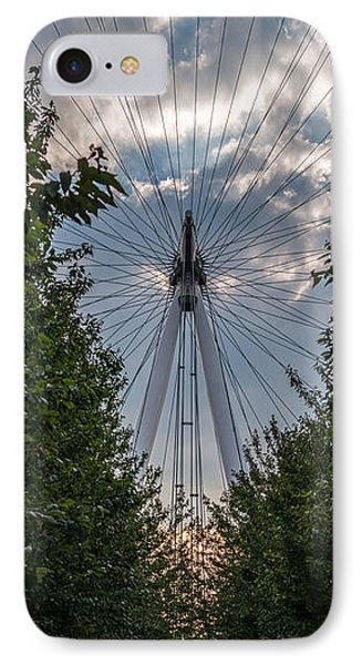 IPhone Case featuring the photograph London Eye Vertical Panorama by Matt Malloy