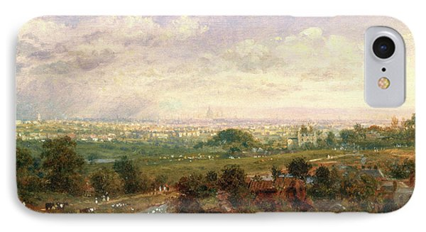 London From Islington Hill, Frederick Nash IPhone Case by Litz Collection