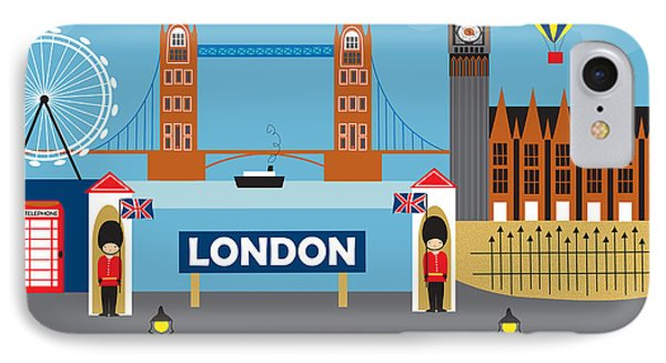London England Skyline By Loose Petals IPhone Case by Karen Young
