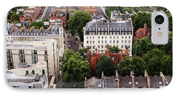London Kensington Rooftops IPhone Case by Nicky Jameson