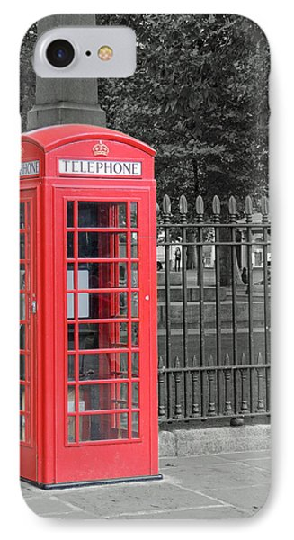 IPhone Case featuring the photograph London Phone Box by Jayne Wilson