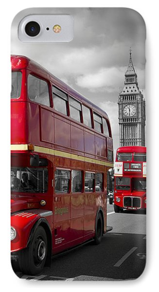 London Red Buses On Westminster Bridge IPhone Case by Melanie Viola