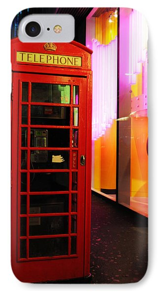 London Red Phone Booth IPhone Case by Haleh Mahbod