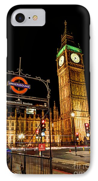 London Scene 2 IPhone Case by Jasna Buncic