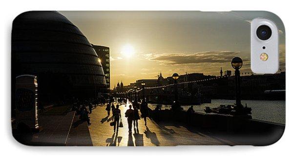IPhone Case featuring the photograph London Silhouettes  by Georgia Mizuleva