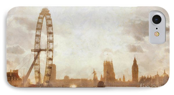 London Skyline At Dusk 01 IPhone Case