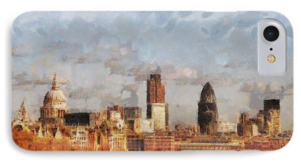 London Skyline From The River  IPhone Case by Pixel Chimp
