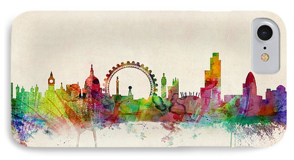 London Skyline Panoramic IPhone Case by Michael Tompsett