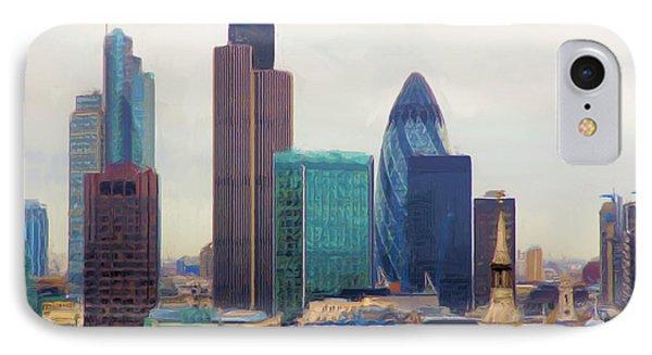 London Skyline IPhone Case by Ron Harpham