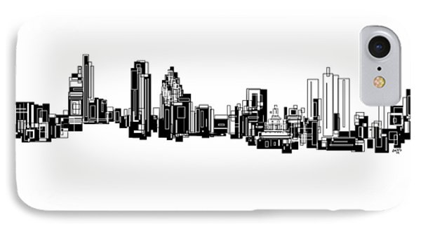 IPhone Case featuring the painting London Skyline by Sheep McTavish