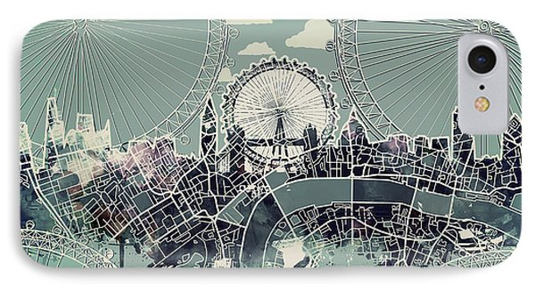 London Skyline Vintage IPhone Case