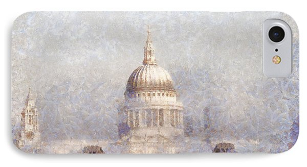 London St Pauls In The Fog IPhone Case by Pixel  Chimp