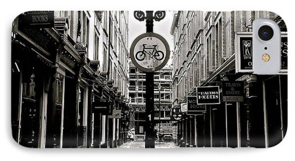 London Street - Monochrome IPhone Case by David Warrington