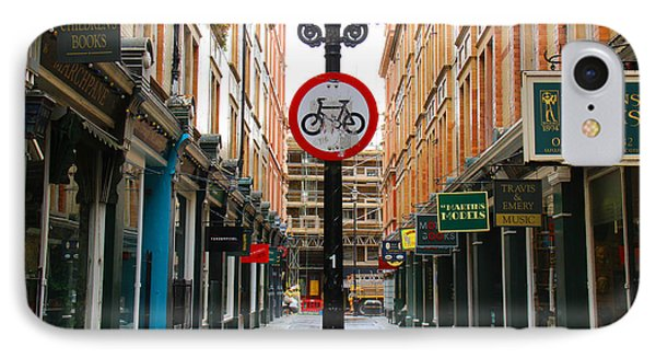 London Street IPhone Case by David Warrington