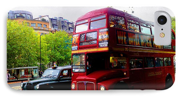 IPhone Case featuring the photograph London Taxi And Bus by Hanza Turgul