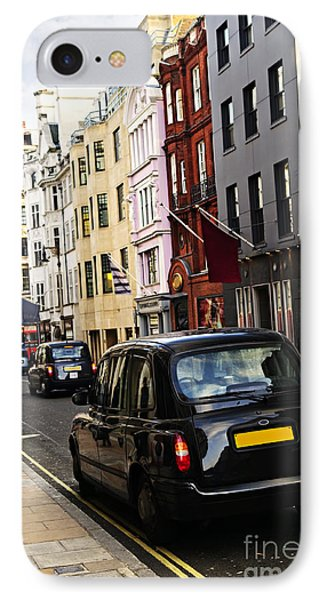 London Taxi On Shopping Street Phone Case by Elena Elisseeva