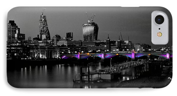 London Thames Bridges Bw IPhone Case by David French