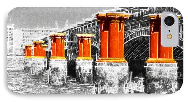 London Thames Bridges Fractals Phone Case by David French
