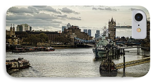 London Thames Scape IPhone Case by Heather Applegate