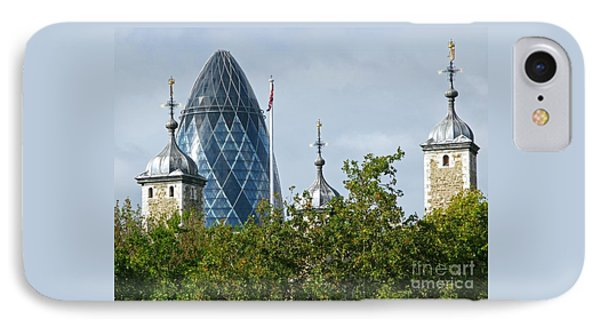 London Towers Phone Case by Ann Horn