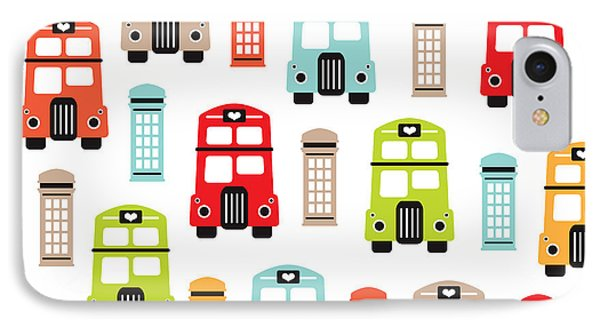 London Uk Double Decker Icon Of The Road IPhone Case