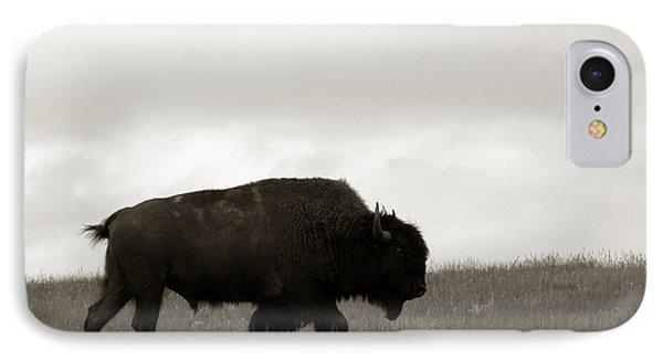 Bison iPhone 7 Case - Lone Bison by Olivier Le Queinec