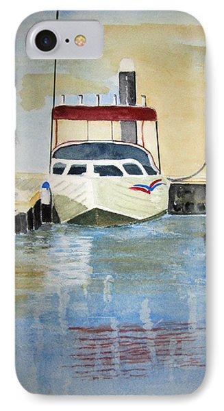 Lone Boat IPhone Case by Elvira Ingram