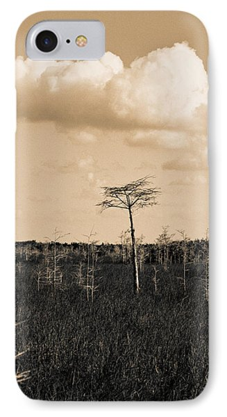 IPhone Case featuring the photograph lone cypress III by Gary Dean Mercer Clark