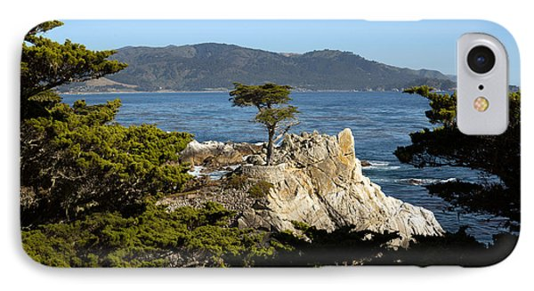 Lone Cypress On 17-mile Drive  IPhone Case by Carol M Highsmith