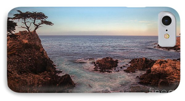 Lone Cyprus Pebble Beach IPhone Case by Mike Reid