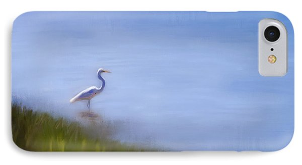 Lone Egret Painting IPhone Case by Michelle Wrighton