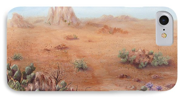 IPhone Case featuring the painting Lone Mesa by Roseann Gilmore