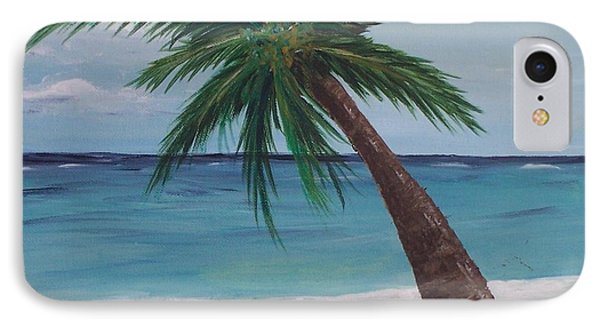 Lone Palm IPhone Case by Debbie Baker
