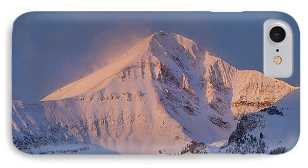 Lone Peak Alpenglow Phone Case by Mark Harrington
