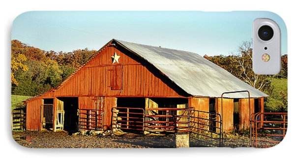 Lone Star Barn IPhone Case by Cricket Hackmann