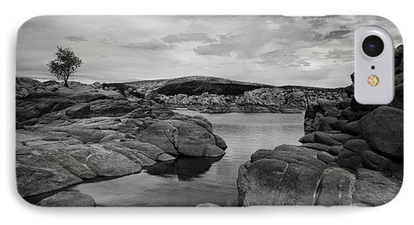 Lone Tree And Watson Lake IPhone Case by Jesse Castellano