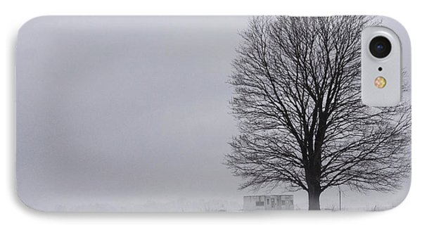 Lone Tree In The Fog IPhone Case by Debra Fedchin