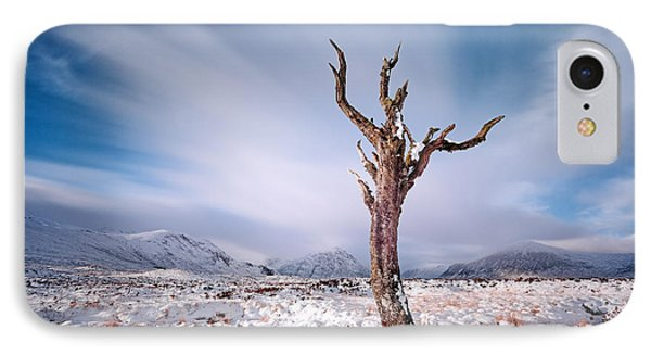 Lone Tree In The Snow Phone Case by Grant Glendinning