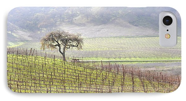 IPhone Case featuring the photograph Lone Tree In The Vineyard by AJ  Schibig