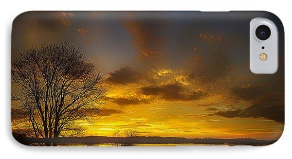 Lone Tree Sunrise Phone Case by Dan Holland