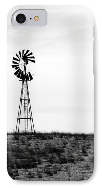 IPhone Case featuring the photograph Lone Windmill by Cathy Anderson