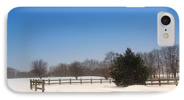 Lone Winter Evergreen  IPhone Case