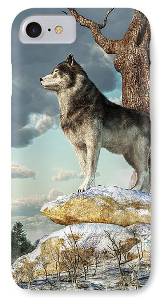 Lone Wolf IPhone Case by Daniel Eskridge