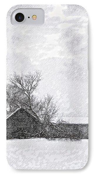Loneliness Sketch Phone Case by Steve Harrington