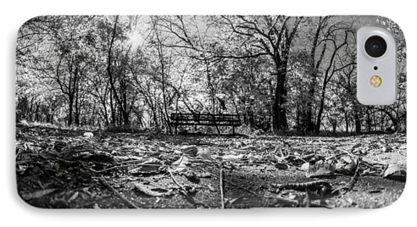 Lonely Bench IPhone Case by Jay Stockhaus